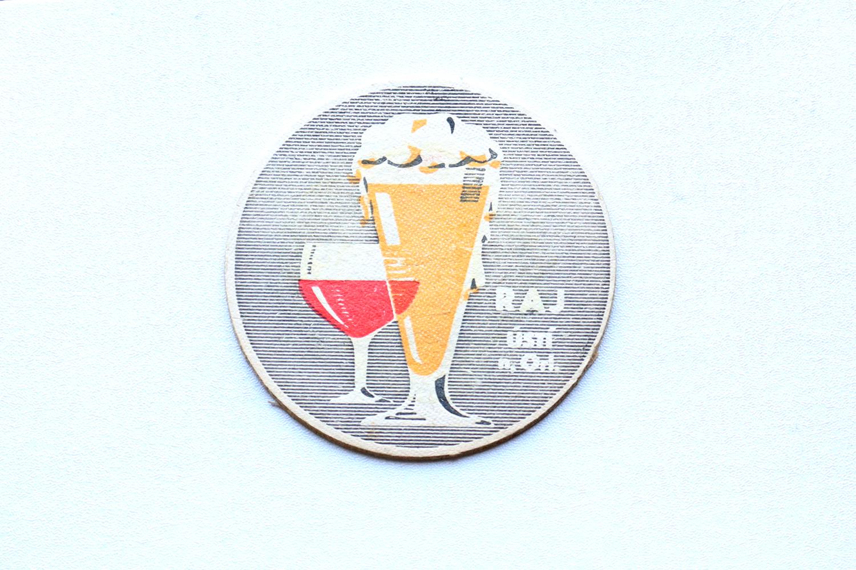 【チェコスロバキア】コースター(お酒・両面プリント)