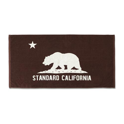 STANDARD CALIFORNIA #SD Cal Flag Towel Brown