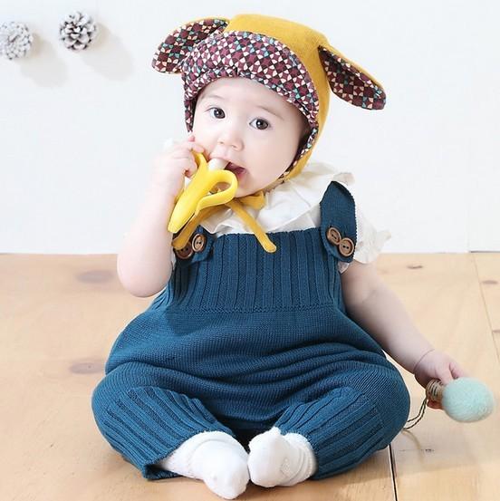 女の子男の子 可愛い ベビーニットロンパース セーター カバーオール オールインワン キッズ 全3色 m7978-c9033-gm-g
