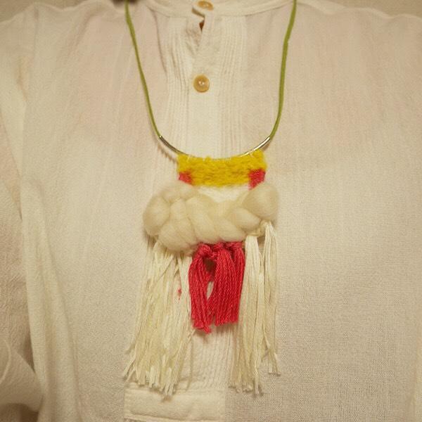 ≪オリジナル≫手織りネックレス【踊り子】