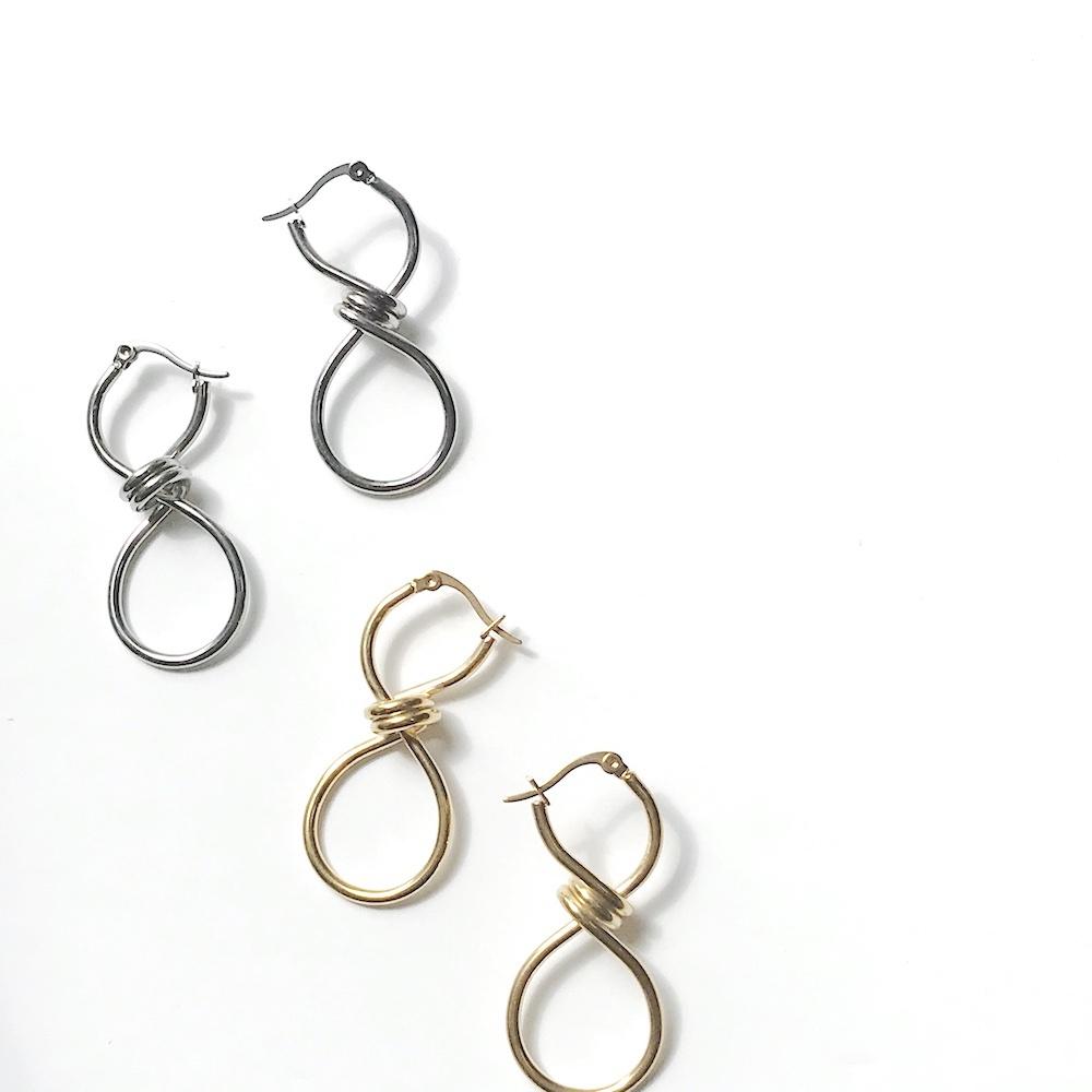 【再入荷】P1105 -  Knot Hoop