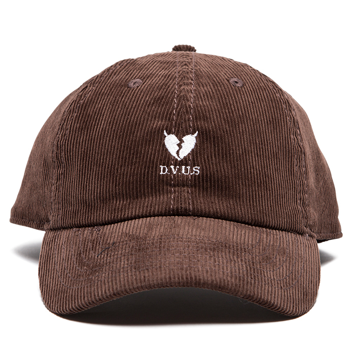 【Deviluse | デビルユース】 Heartaches Corduroy Cap(Brown)