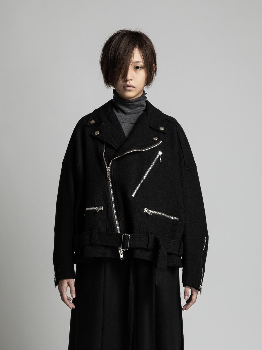 VI-3123-06 / 縮絨ウール ライダースジャケット