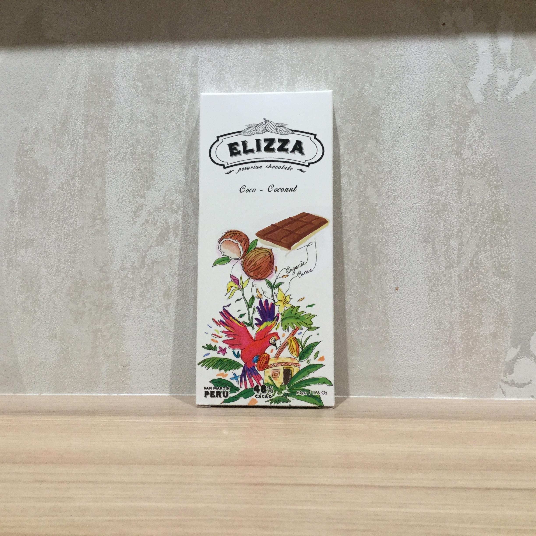 【ELIZZA/エリッツァチョコレート】48%コココンレチェ(ココナツミルク)