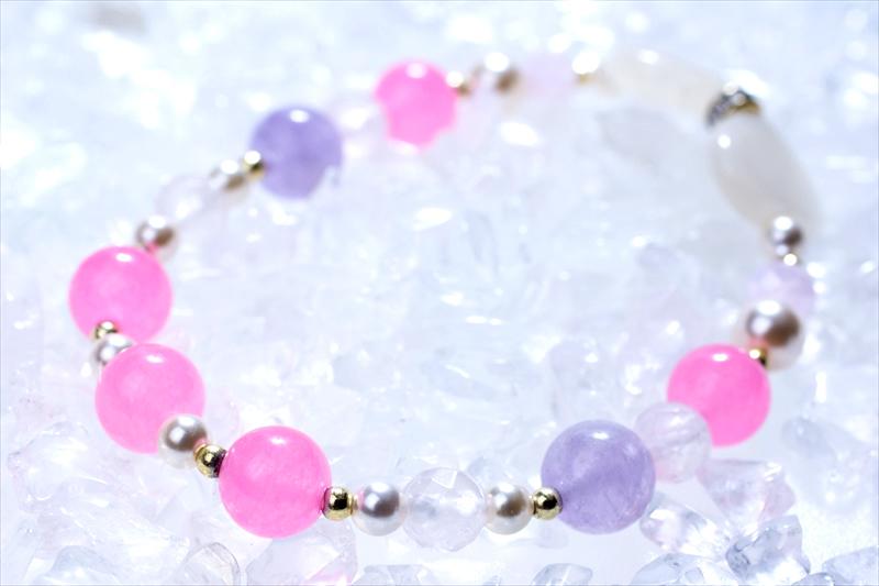 pinky ribon【パワーストーンブレスレット 】 - 画像2