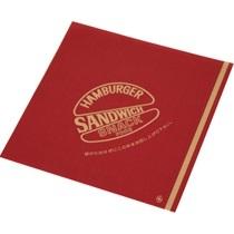 クラフトバーガー袋 180角 (赤B)