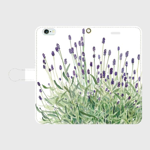 ラベンダー 手帳型スマホケース iPhone6Plus/6sPlus/7plus