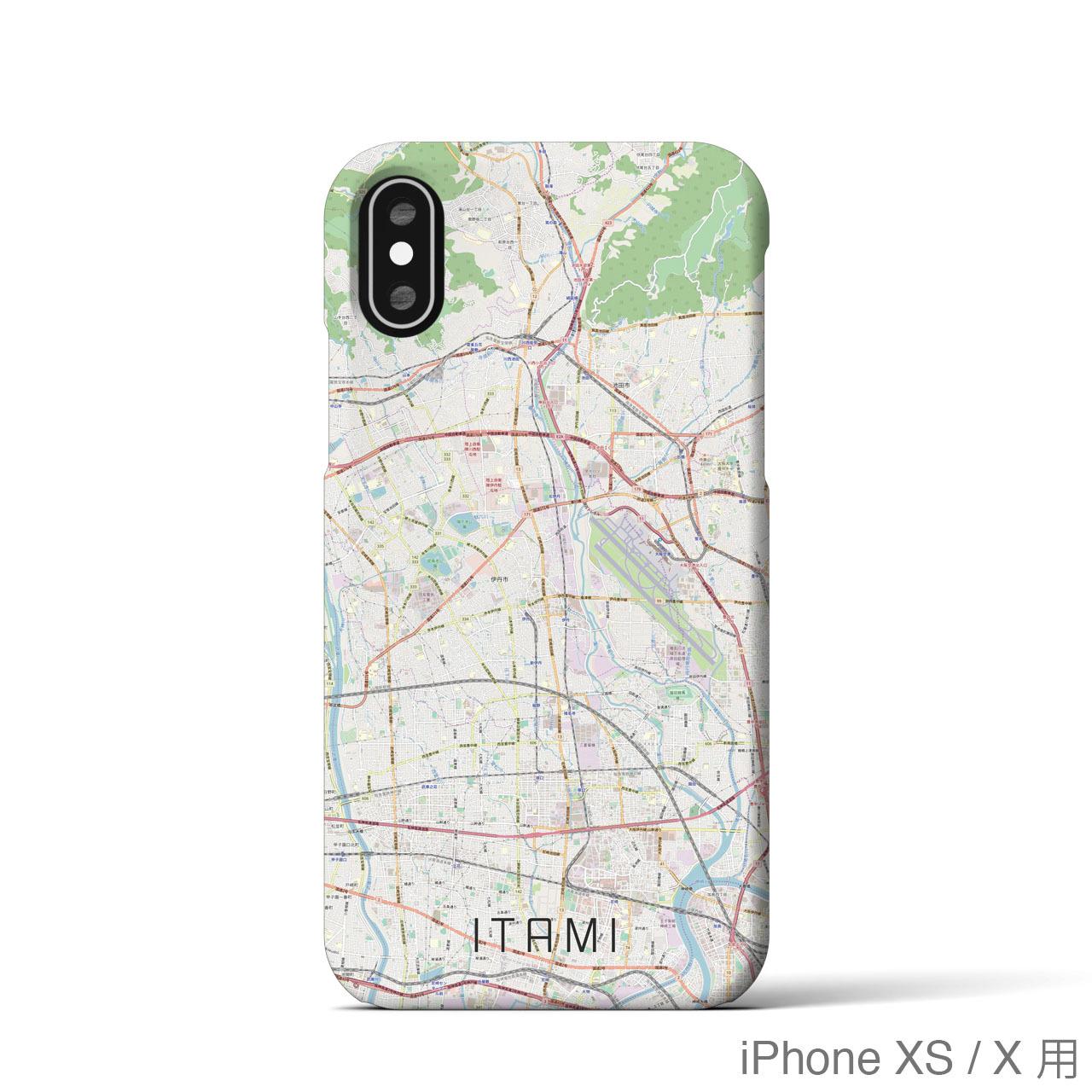 【伊丹】地図柄iPhoneケース(バックカバータイプ・ナチュラル)