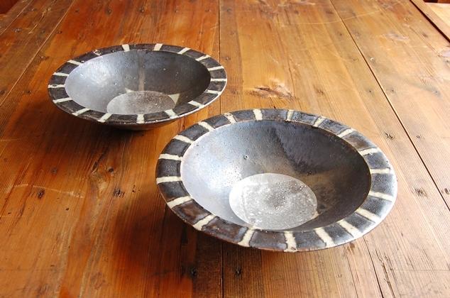 銀彩 円ばん深鉢