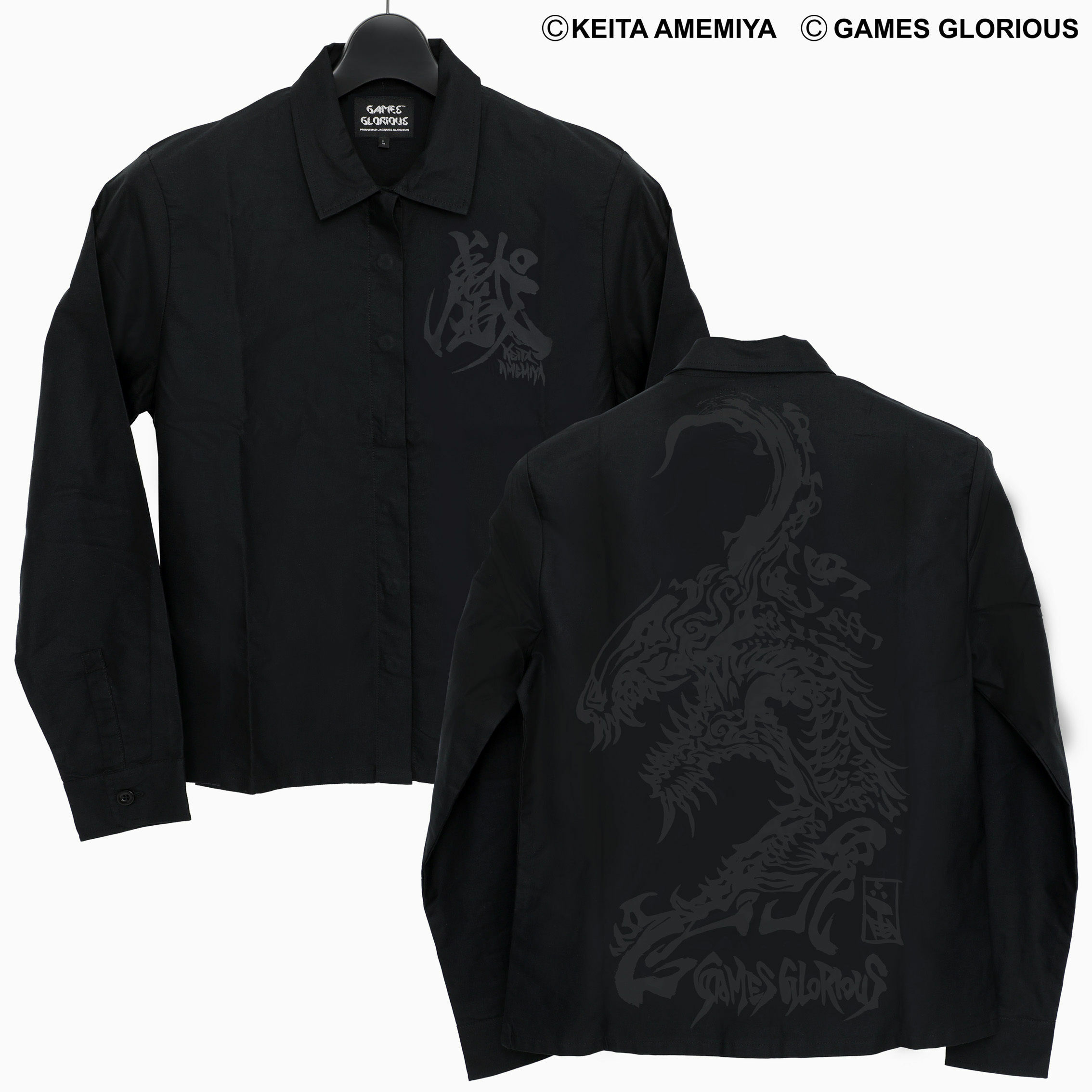 【 KEITA AMEMIYA x GAMES GLORIOUS 】K.A. Collar Shirt 〜 MARYUU 〜 / GAMES GLORIOUS