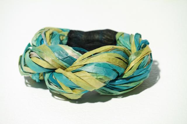 ブレスレット -三つ編み BLUE-