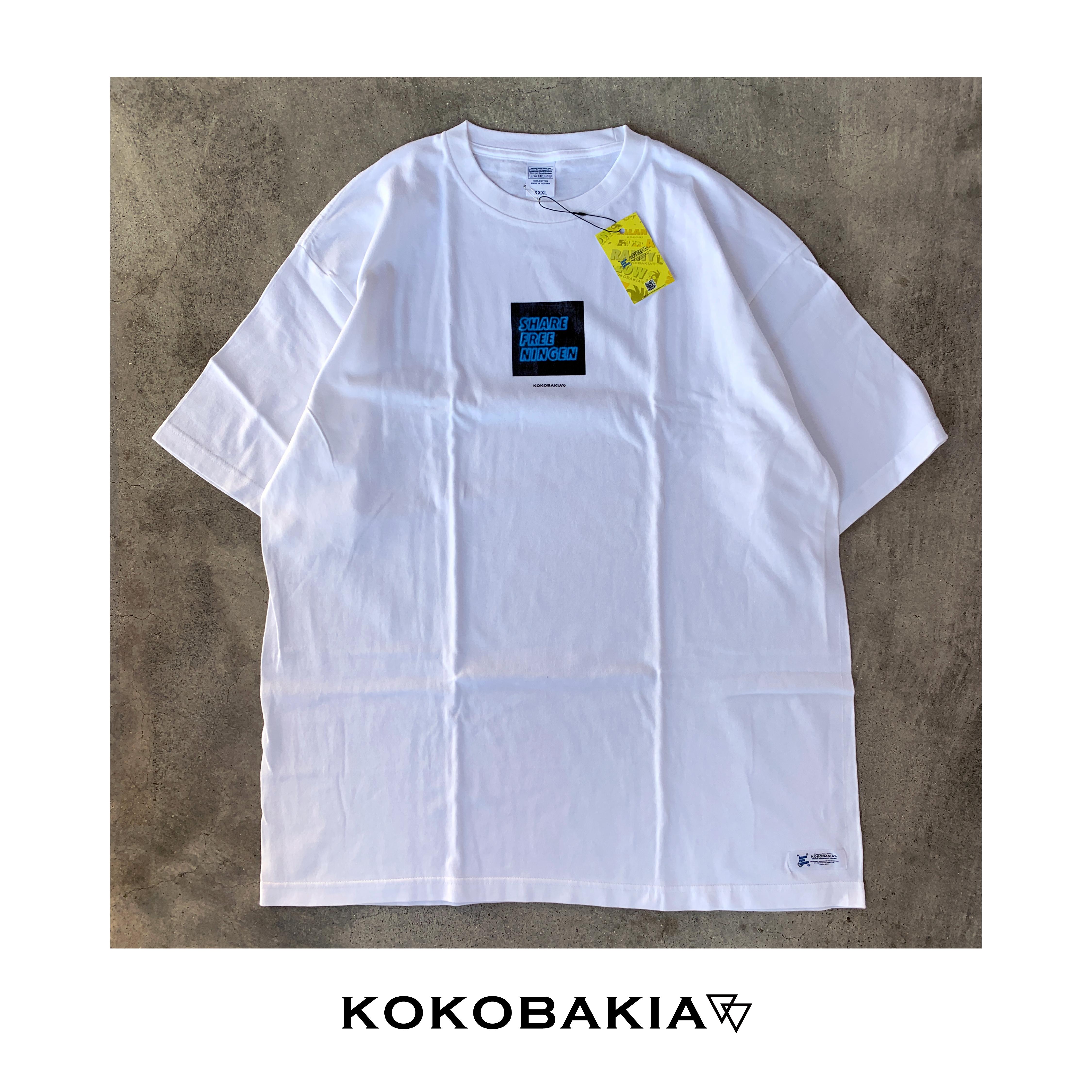 半袖Tシャツ ネオンイラスト ホワイト メンズ レディース かわいい イラスト ロゴ デザイン #ロックファッション #ストリートファッション