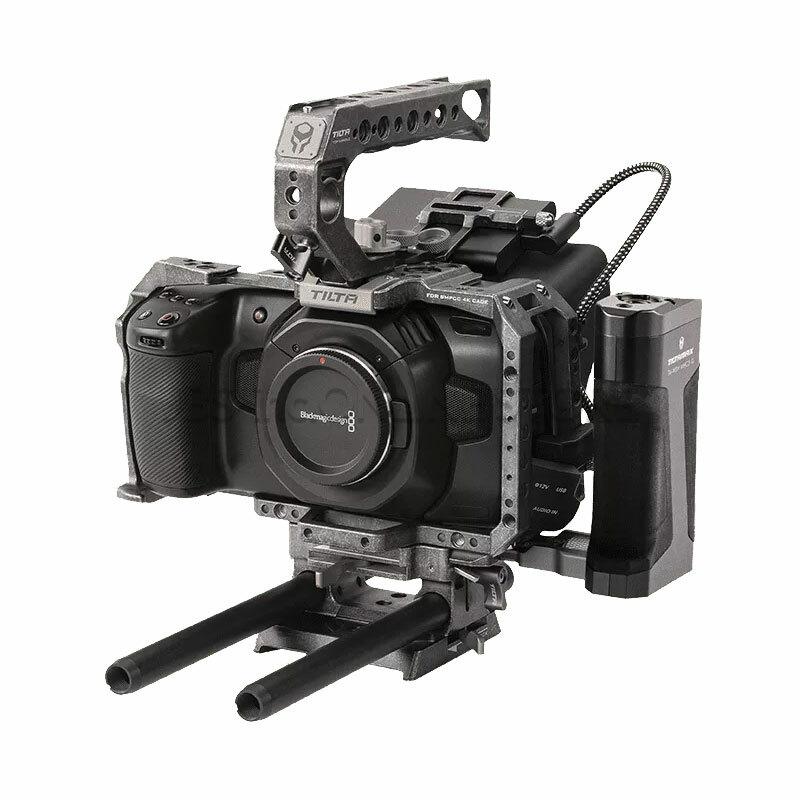 TILTA Camera Cage for BMPCC 4K – Tactical Kit (Tactical Finish)