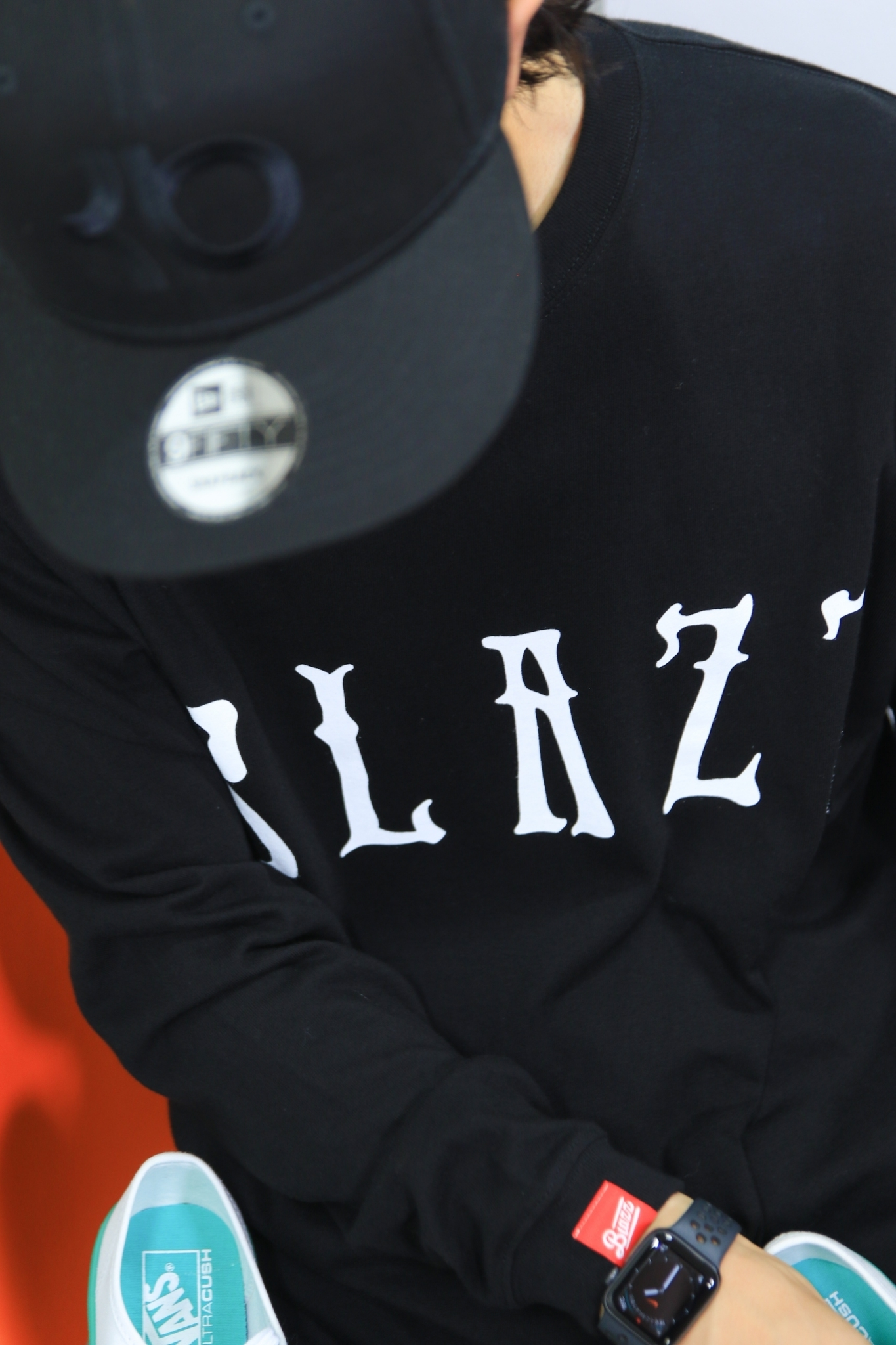 Euro Blazz BIG LOGO L/S TEE [BLACK]