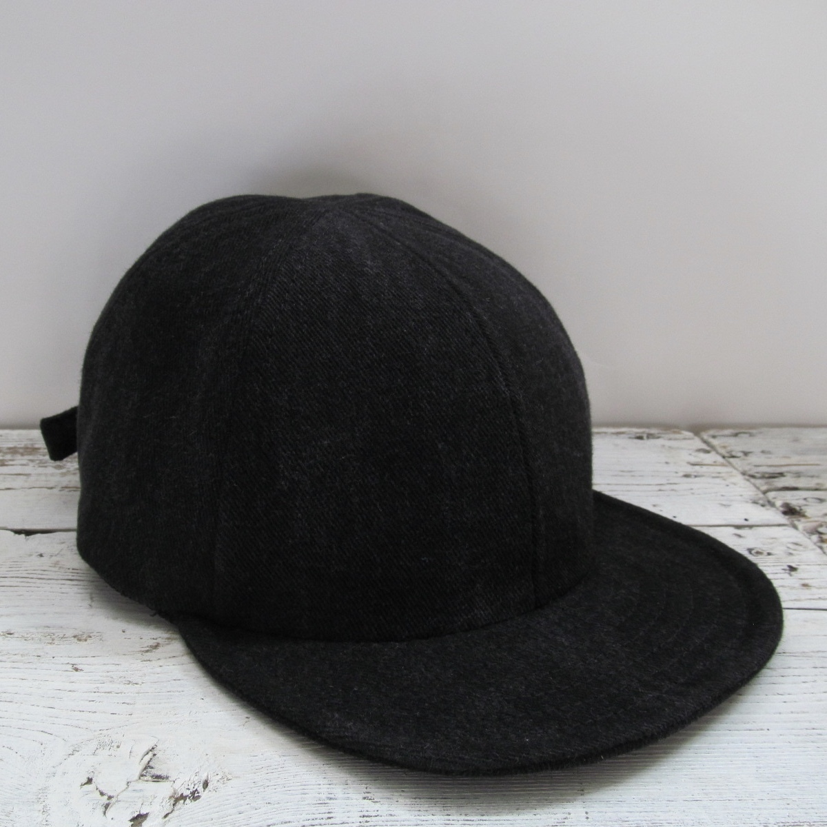 BLACK DENIM MODIFIED LOW CAP