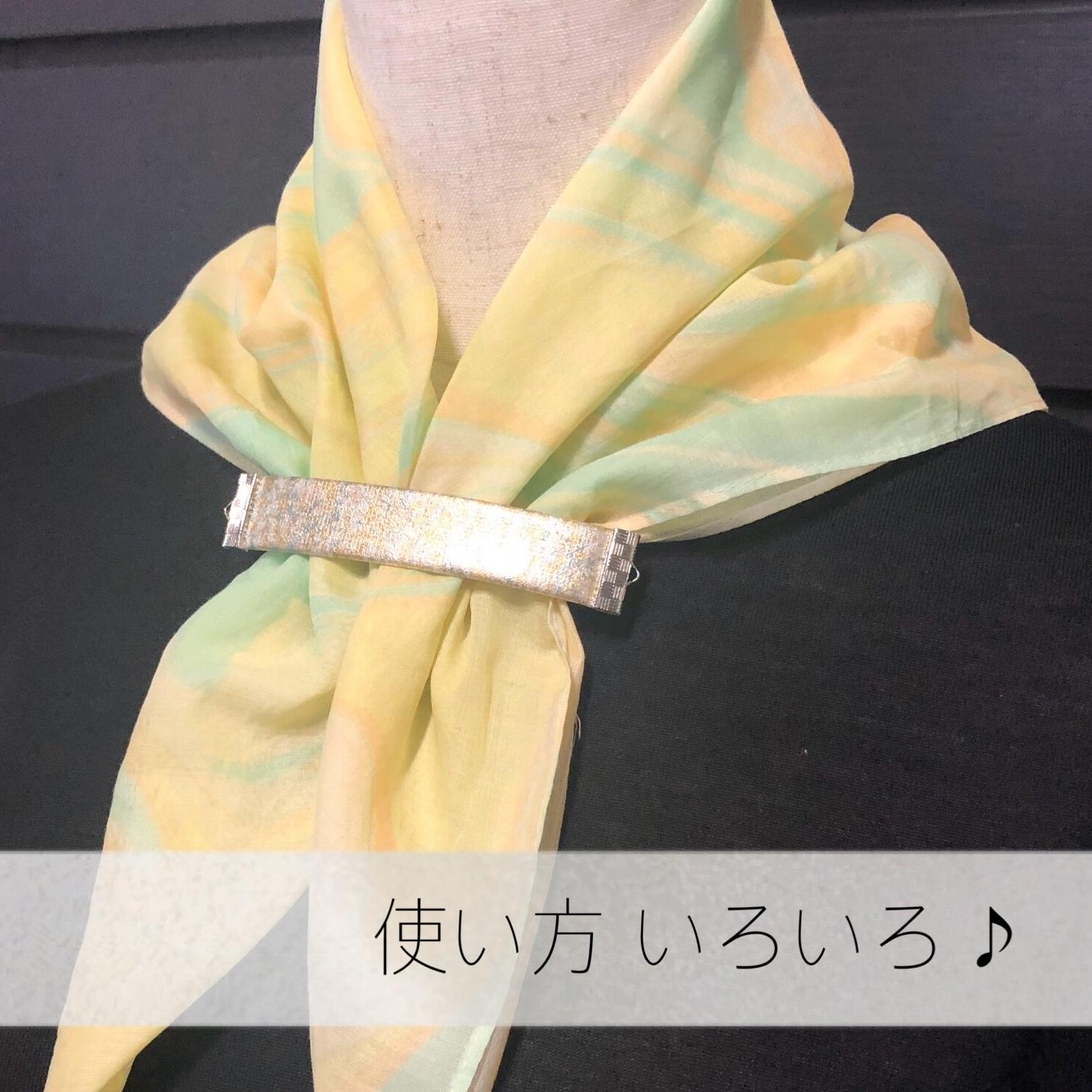 バレッタ(8.5cm/金彩/No.3)