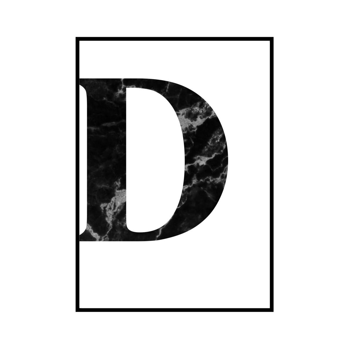 """""""D"""" 黒大理石 - Black marble - ALPHAシリーズ [SD-000505] A1サイズ ポスター単品"""