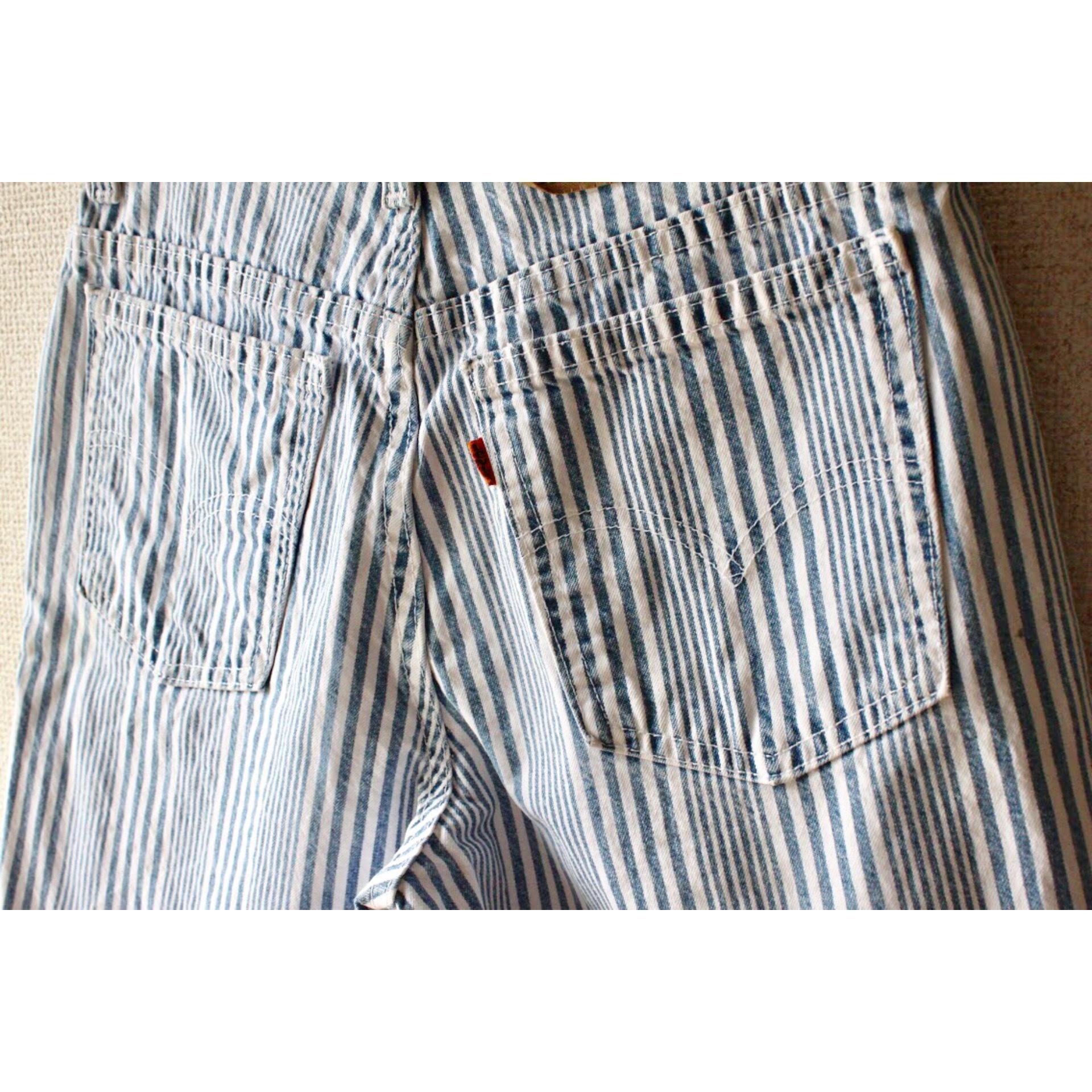 Vintage stripe denim shorts by Levis