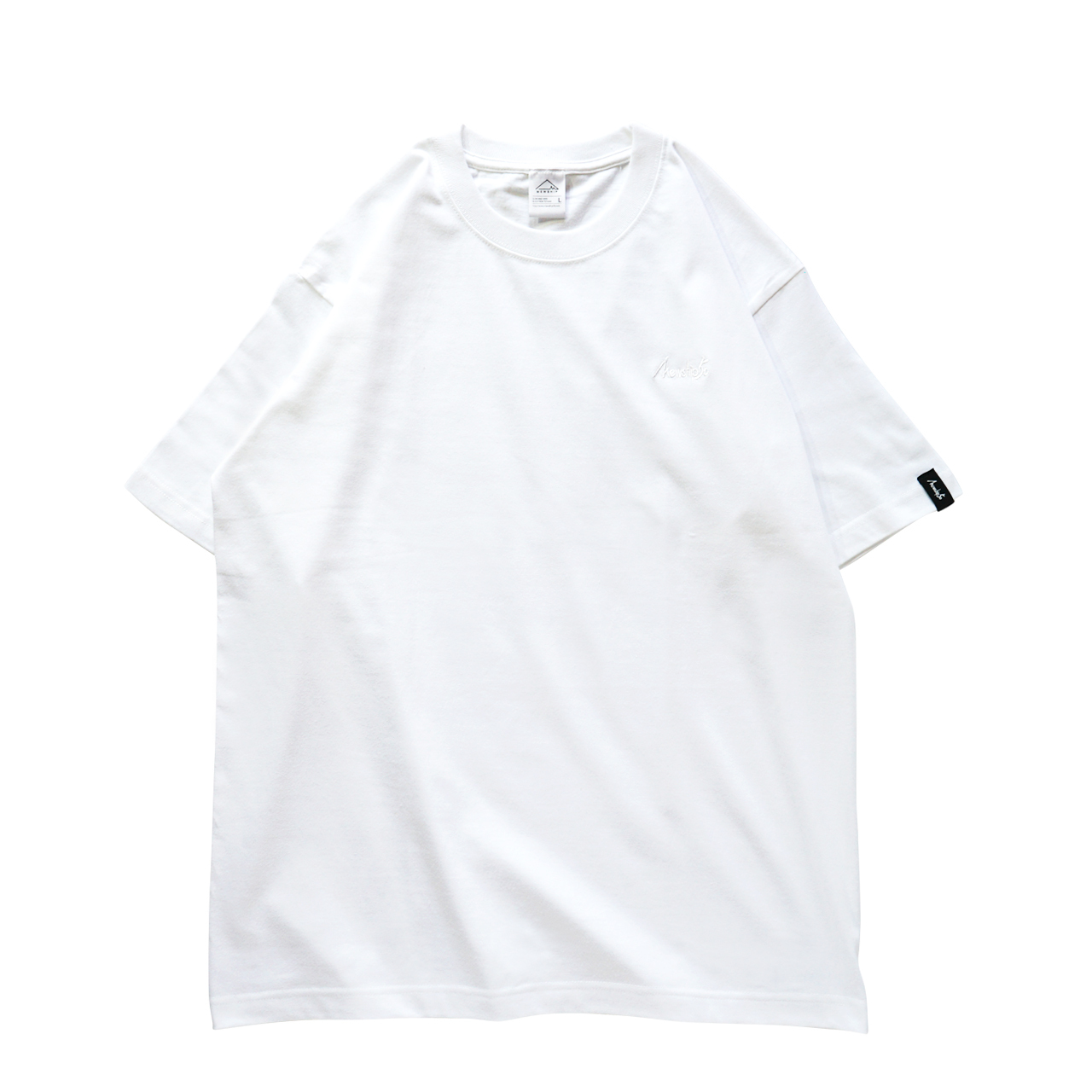 BASIC LOGO 019 S/S CT <White×White> - 画像1