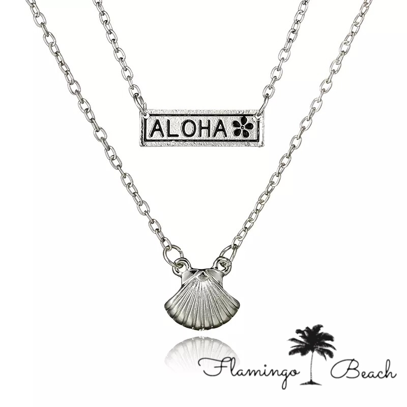 【FlamingoBeach】Aloha ネックレス