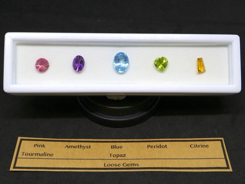 【宝石セット】ルース石 裸石 カット石 5個セット #1 T090