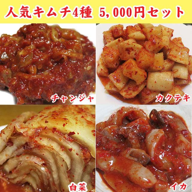 人気キムチ4種 5000円セット