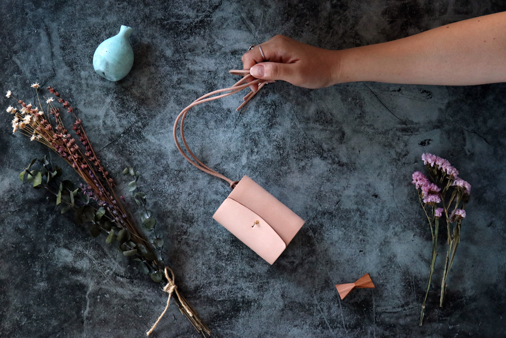 ヌメ革(栃木レザー)_ナチュラル◆外装◆あかちゃん財布◆三つ折り