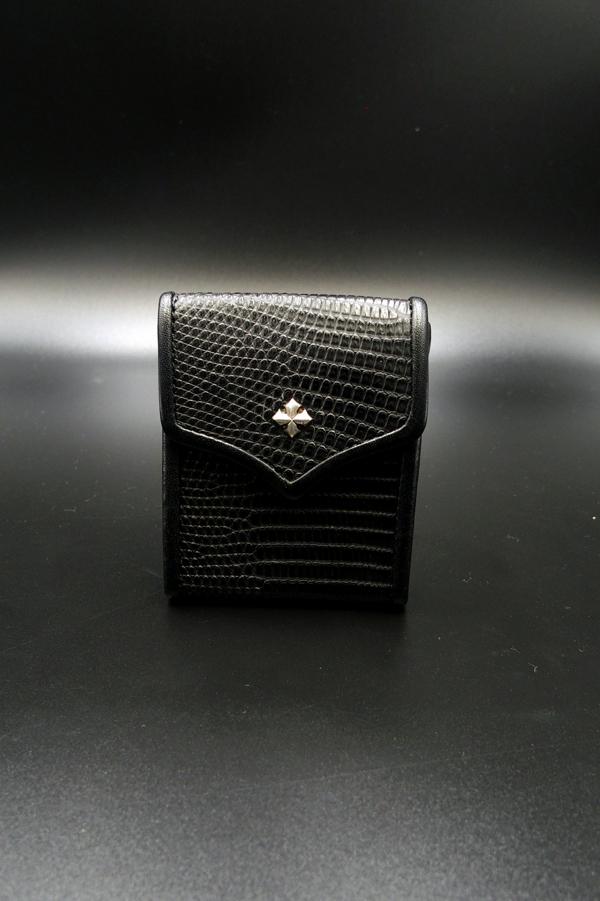 Item No.0013: Small Rich Coin Case1/Lizard Mat Black