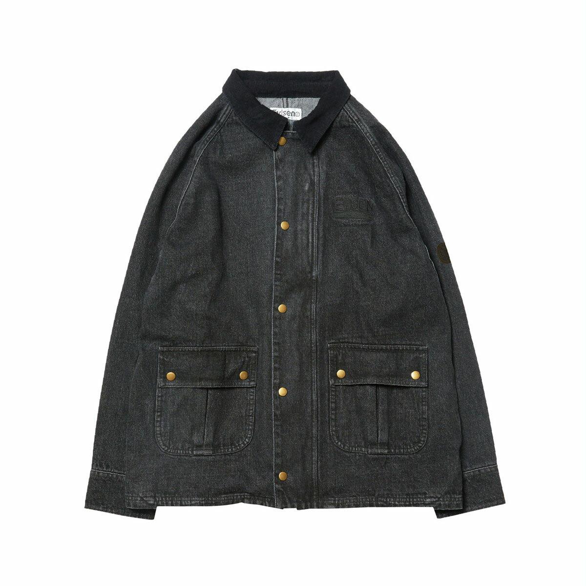 EVISEN 【CONTRA JKT BLACK DENIM】
