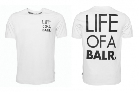 soldout ボーラー balr tシャツ メンズ life of a balr logo t