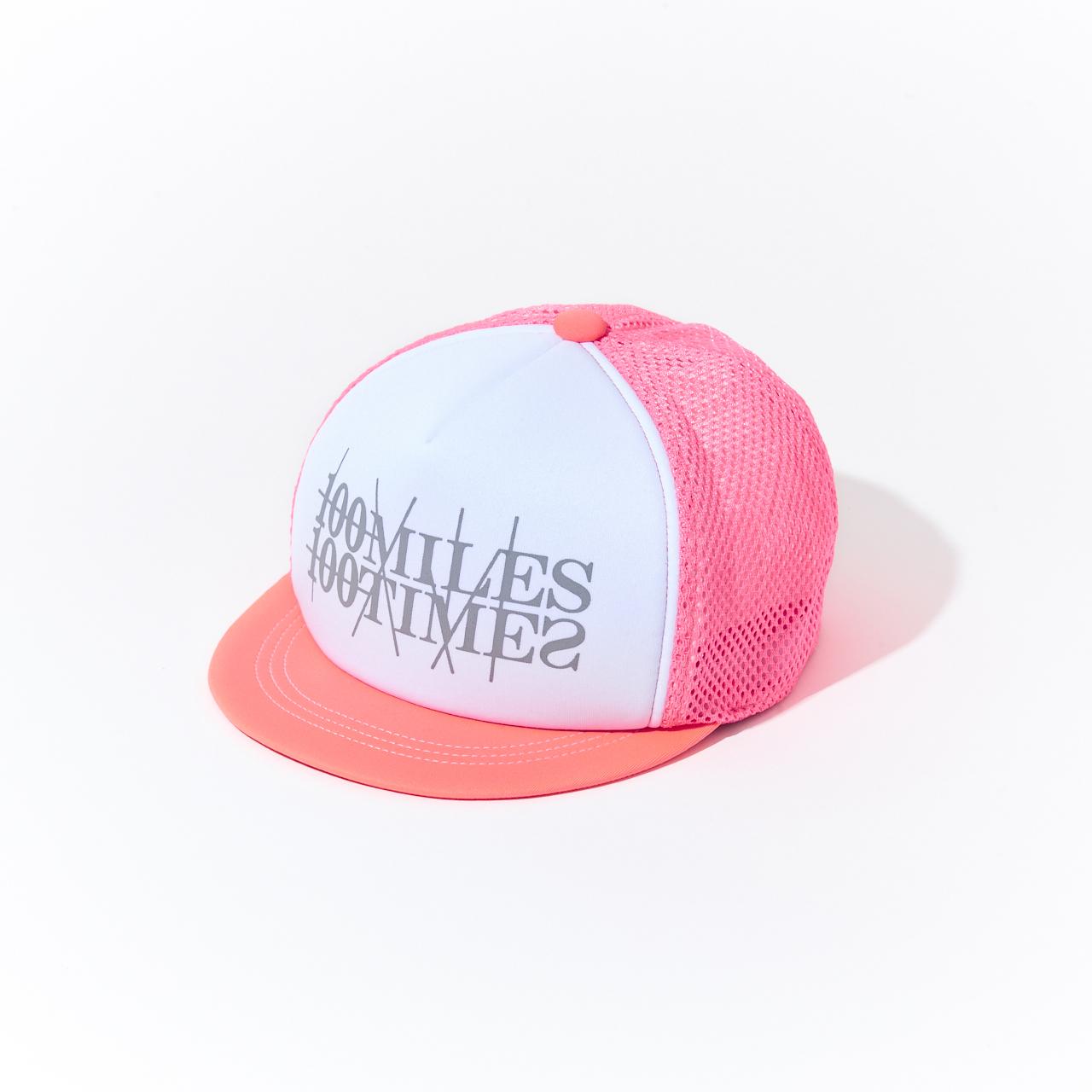 HUNGERKNOCK × 100miles100times Cap(Pink/White)