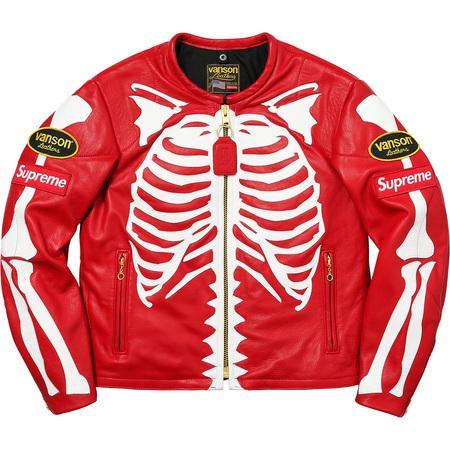 Supreme x Vanson Leather Bones Jacket Red
