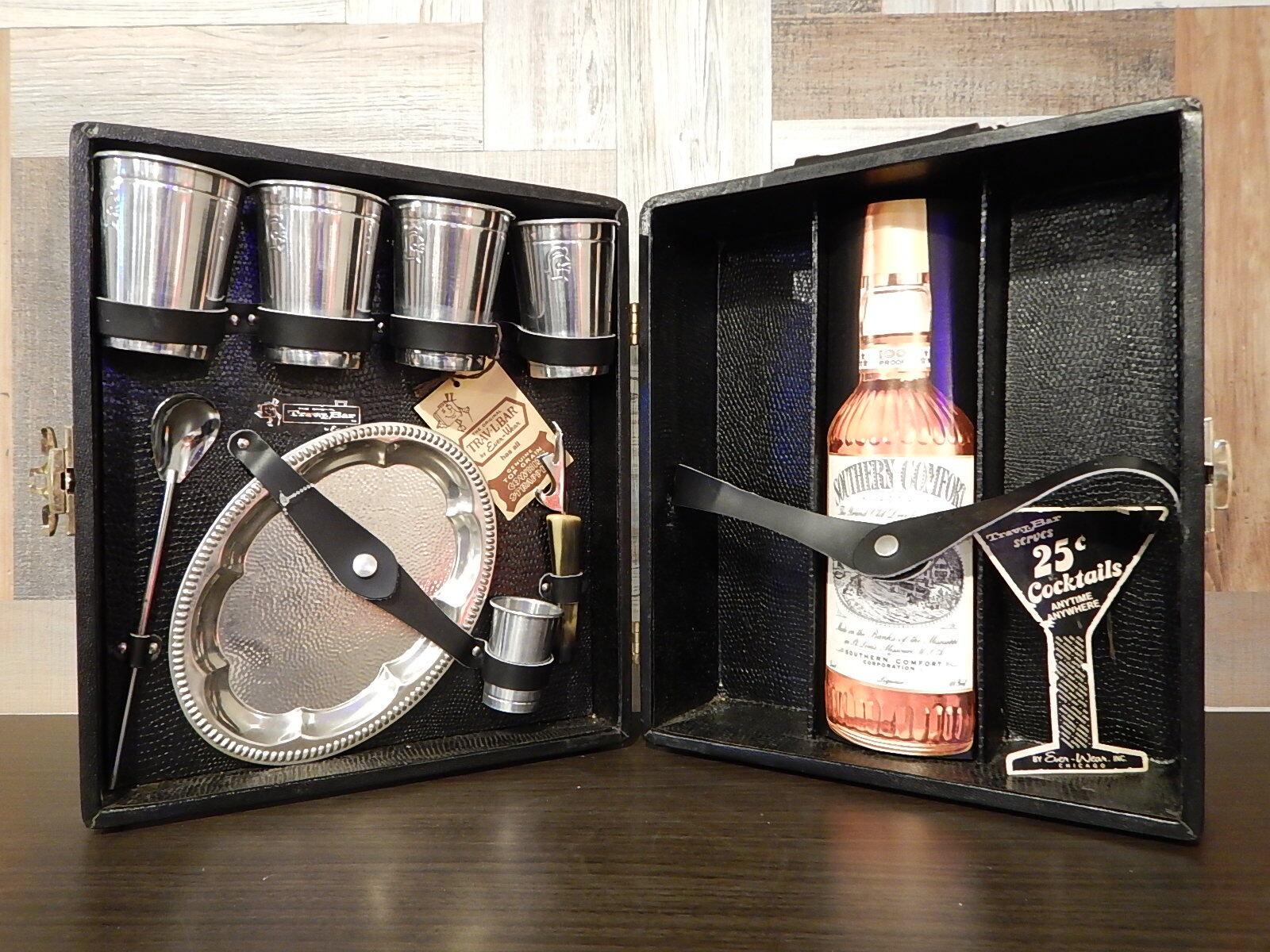 品番1072 未使用 トラベル バーセット Trav-L-Bar  スーツケース入り アルミ製 食器セット 011