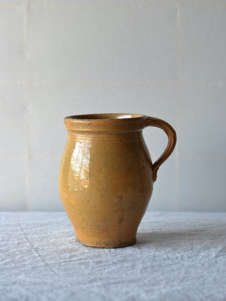 antique | イエローポット-yellow handle pot
