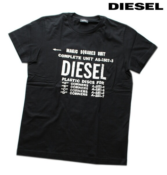DIESEL ディーゼル Tシャツ 半袖 プリント Tシャツ メンズ T-DIEGO-B6 BLACK