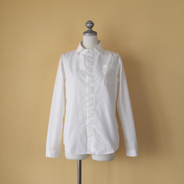 LOLO ロロ 定番比翼シャツ・ホワイト