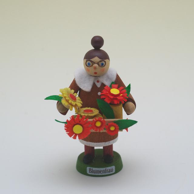 木彫人形 お花屋さん