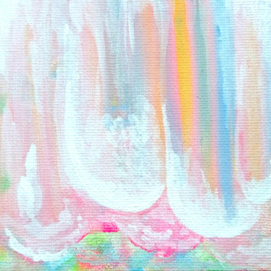 絵画 インテリア アートパネル 雑貨 壁掛け 置物 おしゃれ 抽象画 ロココロ 画家 : ごま 作品 : アイスキャンディ