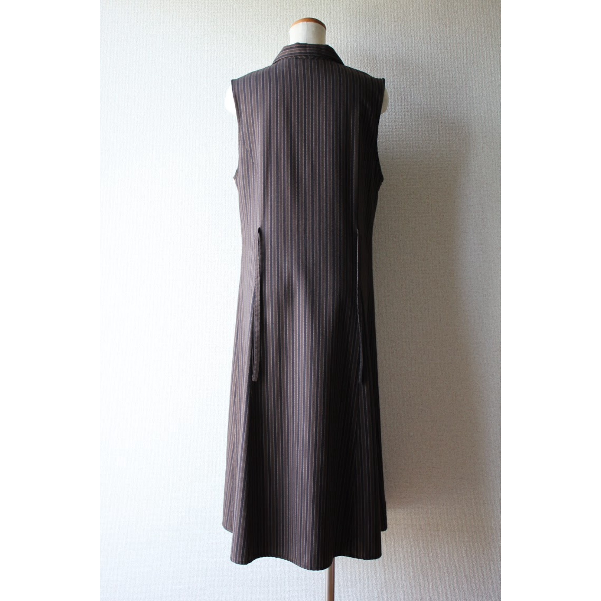 Vintage sleeveless stripe dress