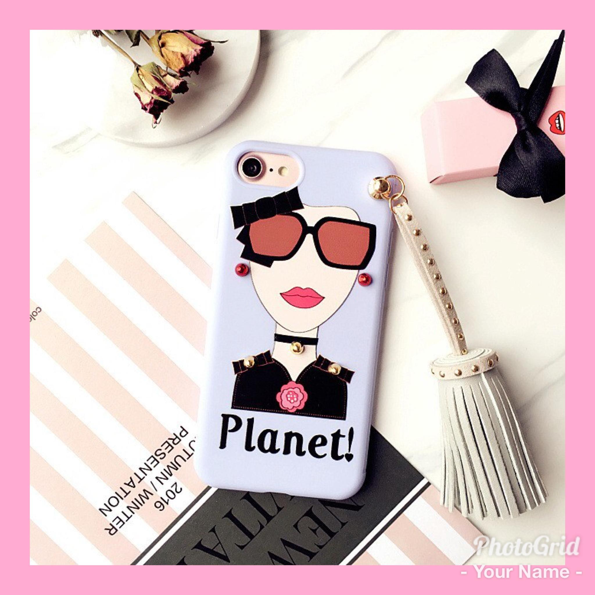 送料無料!tassel girl iPhone case 『planet』