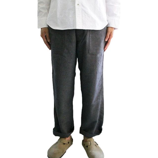 ARAN (アラン) FATIGUE-46 C/W  短め丈 ファティーグパンツ コットンウールベイカーパンツ -GREY-