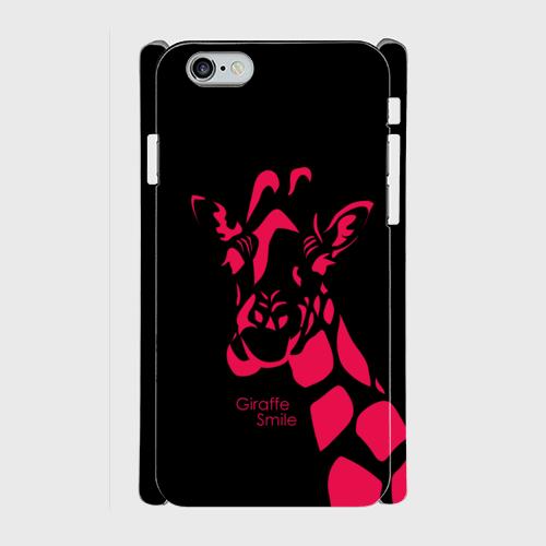 iPhone6/6sスマホケース ☆giraffe×pink☆側表面印刷  ツヤ有り(コート)