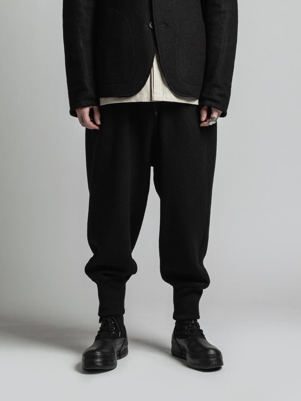 VI-3258-04 / 縮絨ウール裾リブパンツ