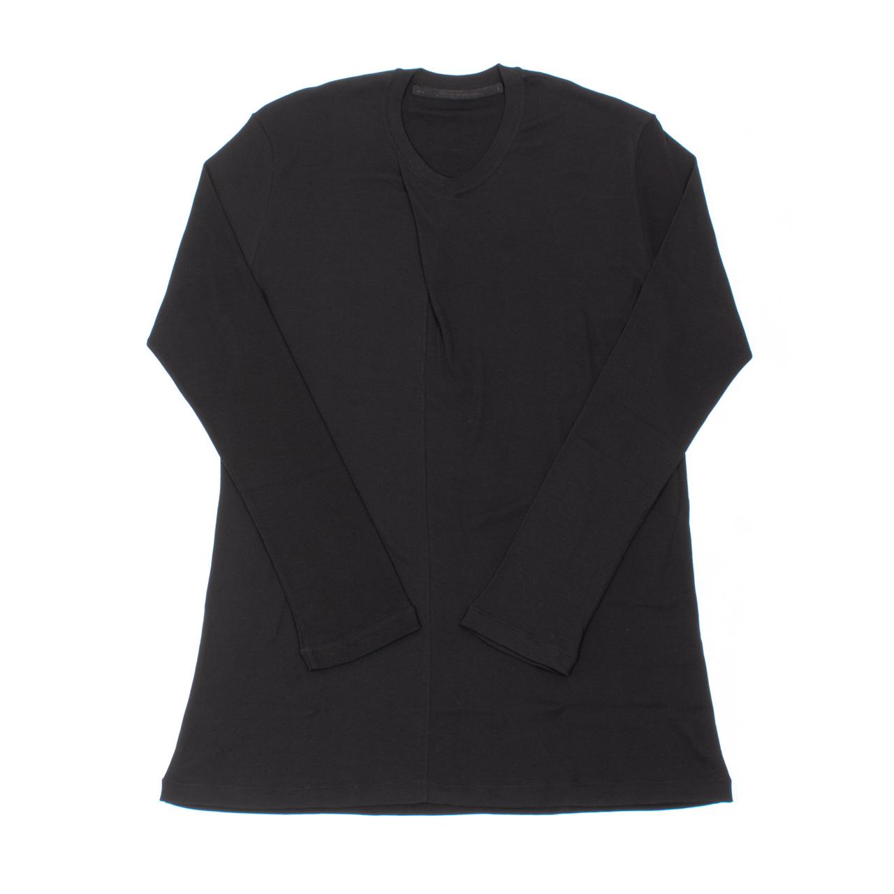 707CUM5-BLACK / カラータック ロングスリーブ Tシャツ