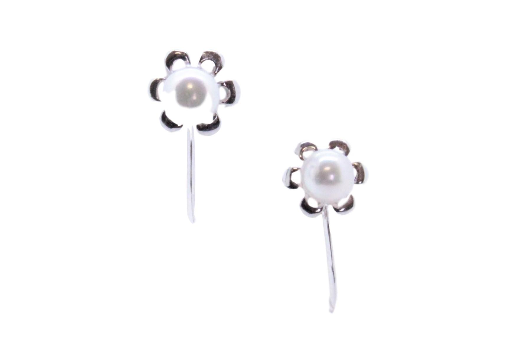アコヤ真珠 SV デザインイヤリング