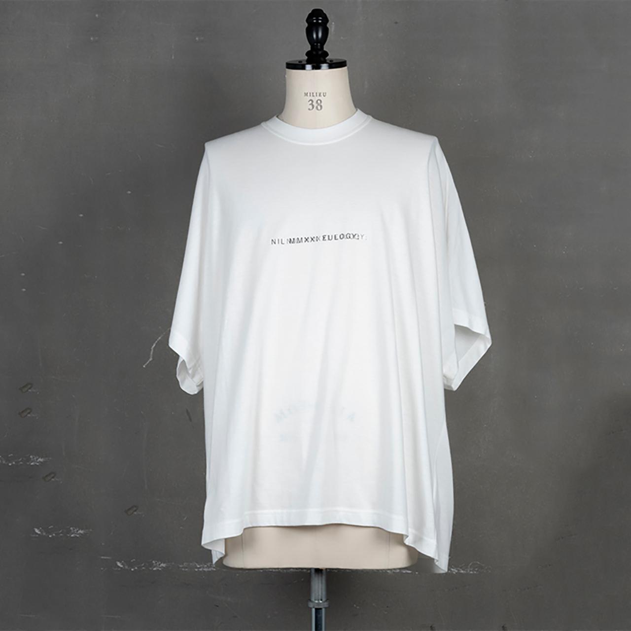 [ 2021 春夏 予約商品 ] 740CPM2-WHITE / NILøS プリント Tシャツ ver.2 / 1月入荷予定