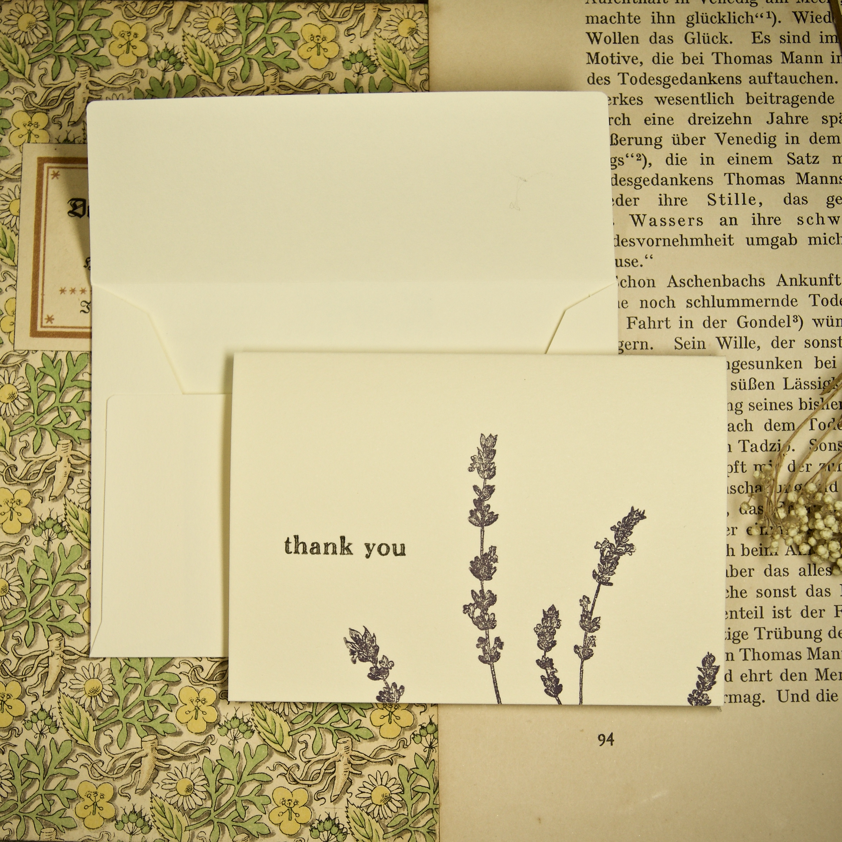 message card ラベンダー 105×75mm   thank you入り