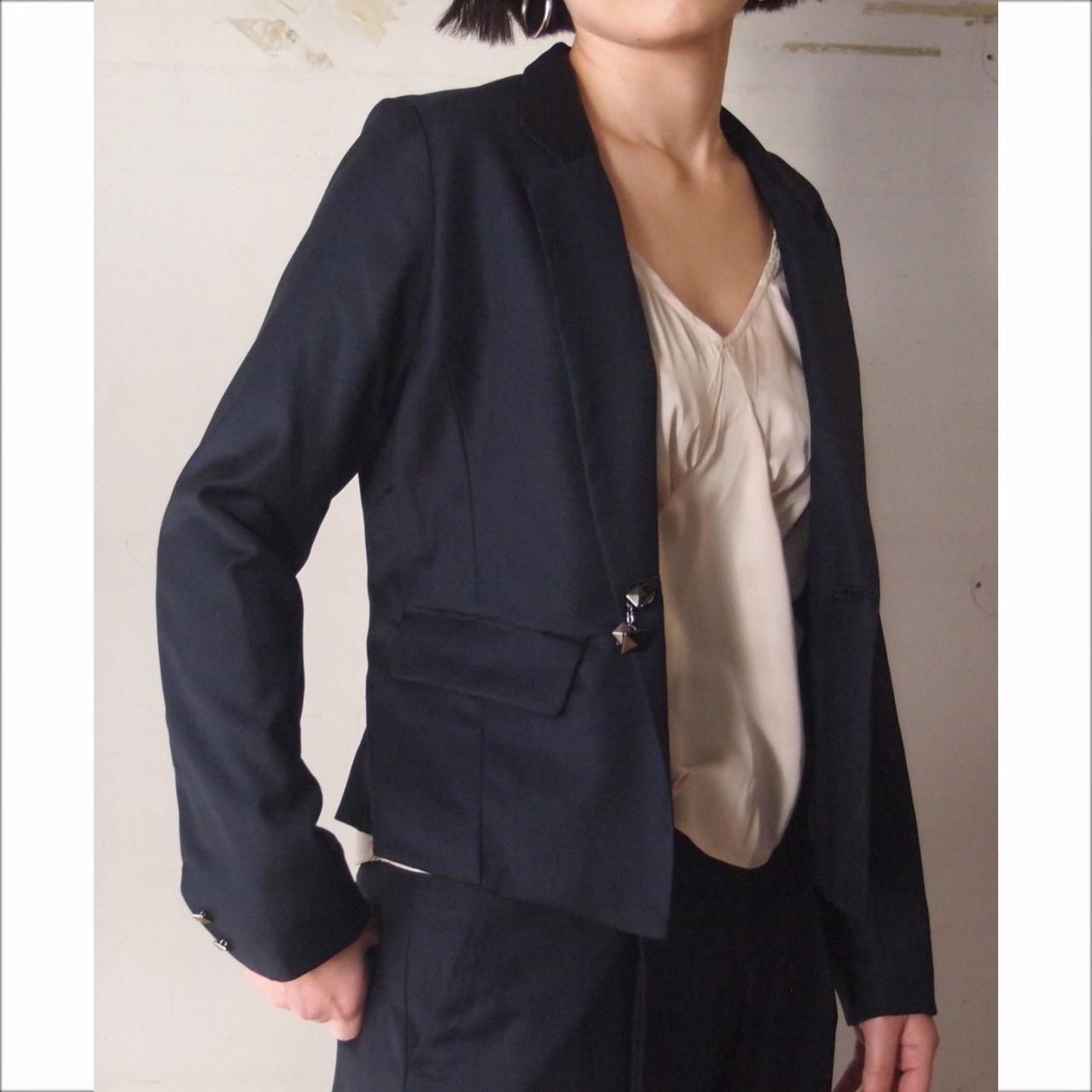 【hippiness】double face collar suit jacket/【ヒッピネス】ダブル フェイス カラー スーツ ジャケット