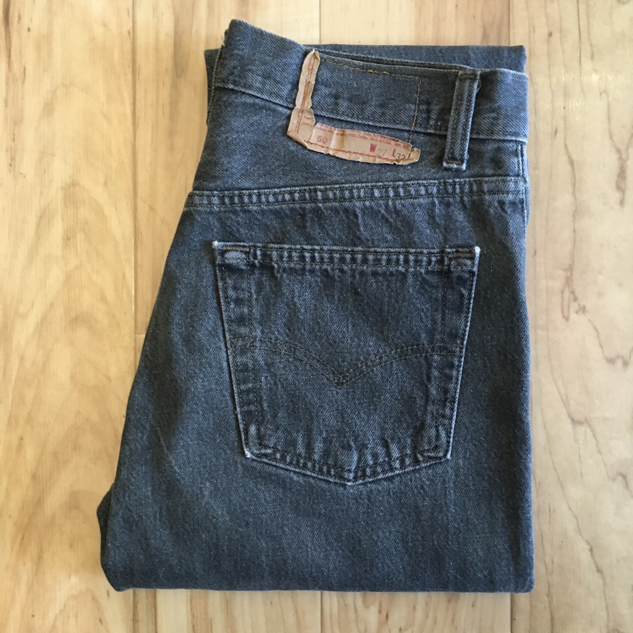 "Levi's 501 80's BLACK W27 inch ""Made in USA """