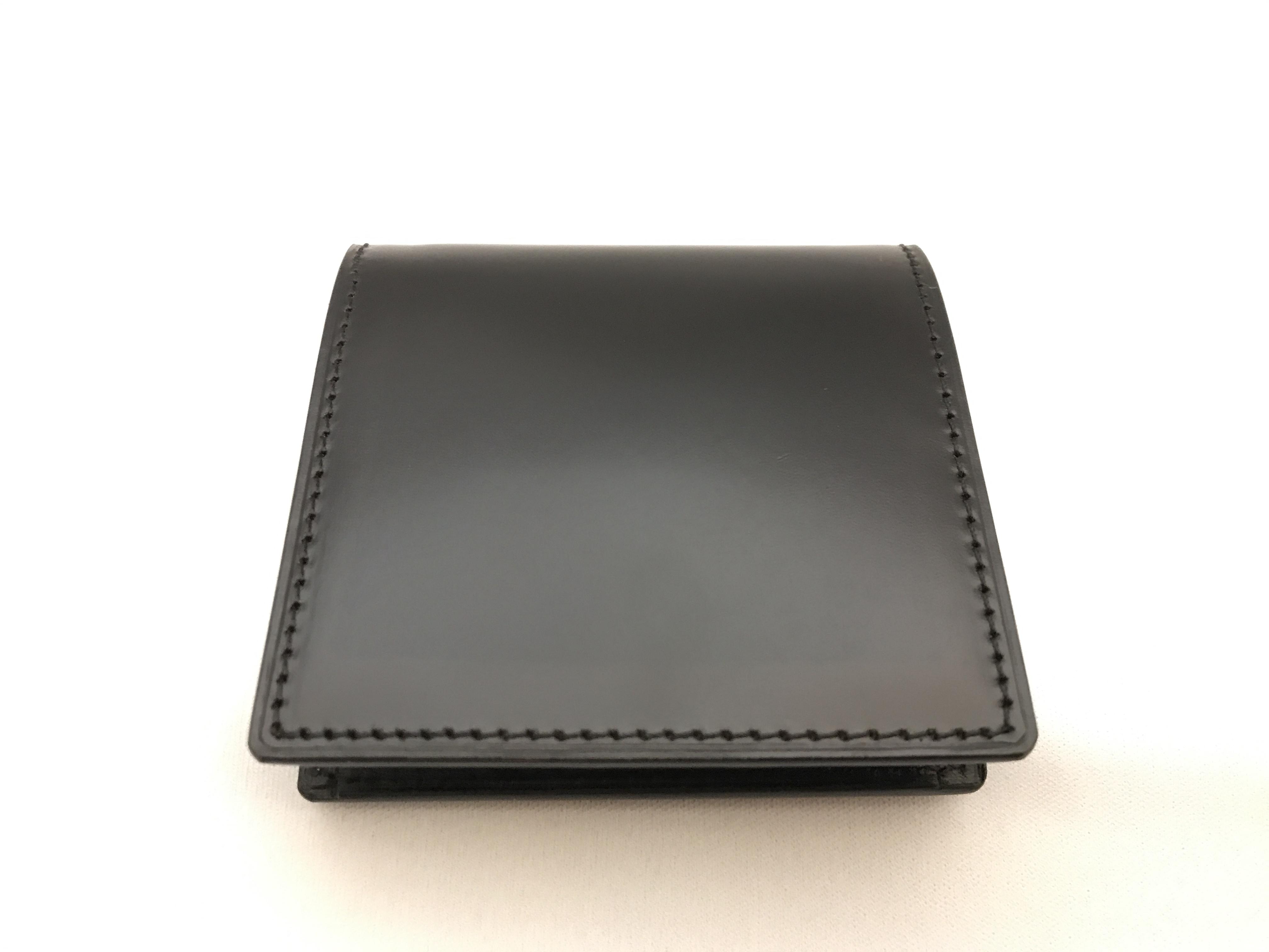 最高級コードバン小銭入れ ブラック